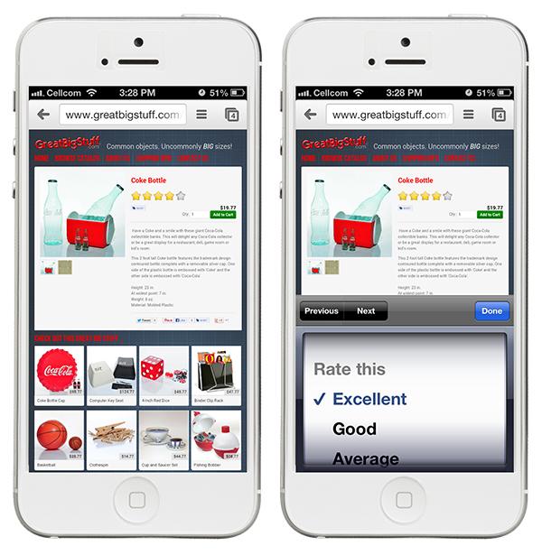 Rating-Widget on iPhone