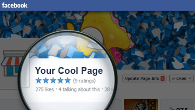 Facebook Page 5 Star Rating Widget